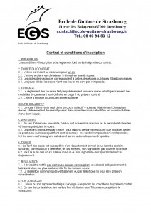 Contrat et conditions d'inscription verso EGS